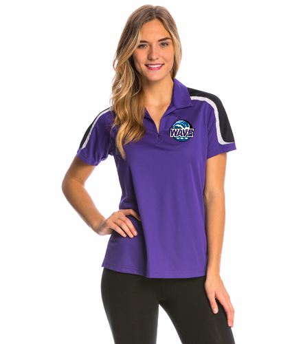 Wave purple - SwimOutlet Women's Tech Polo