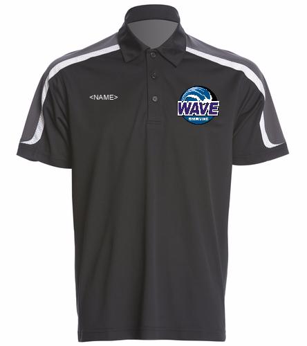 Wave Black - SwimOutlet Men's Tech Polo