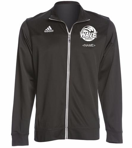 Wave Black - Adidas Men's Utility Warm Up Jacket