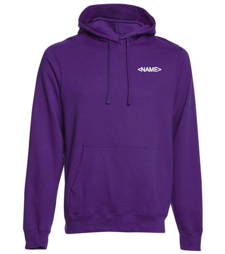 Team Sweatshirt With Back Logo  - SwimOutlet Adult Fan Favorite Fleece Pullover Hooded Sweatshirt