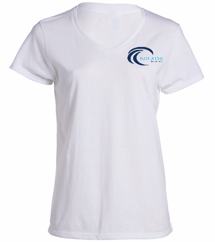 Nocatee White - SwimOutlet Women's Cotton V-Neck T-Shirt