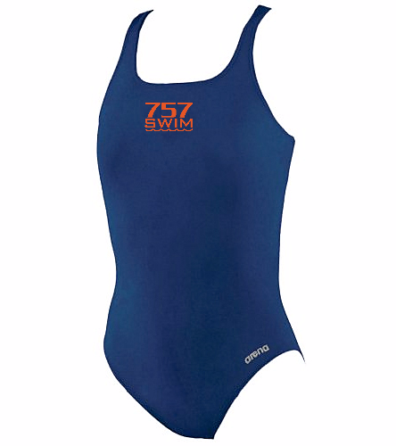 757 - Arena Girls' Madison Athletic Thick Strap Racer Back One Piece Swimsuit
