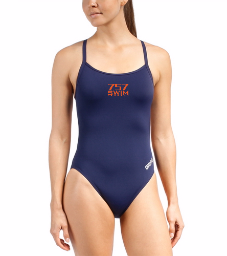 757 - Arena Women's Mast Micro Thin Strap Racer Back One Piece Swimsuit