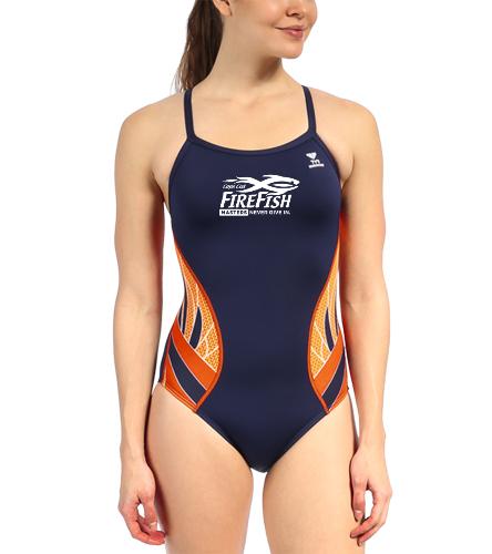 FireFish Masters Women's TYR Phoenix - TYR Women's Phoenix Splice Diamondfit One Piece Swimsuit