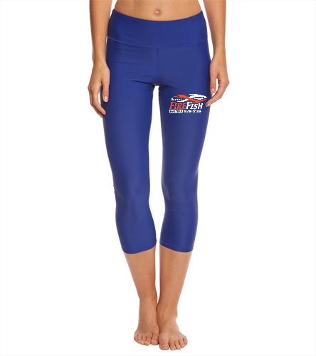 FireFish Masters Women's Capri Leggings - Sporti Active Swim Capri Legging