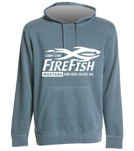FireFish Masters Faded Sweatshirt - SwimOutlet Unisex Midweight Pigment Dyed Hooded Sweatshirt