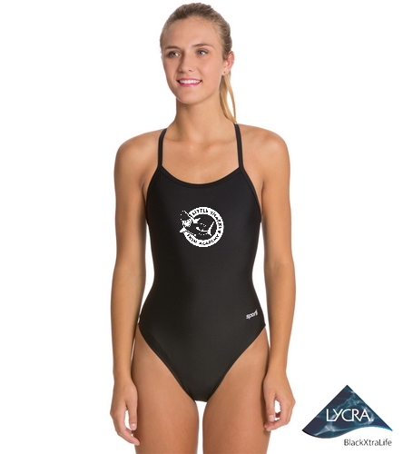 LS Adult  - Sporti Solid Thin Strap One Piece Swimsuit
