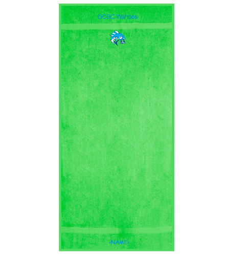 Green County Wahoos - Royal Comfort Terry Cotton Beach Towel 32 x 64