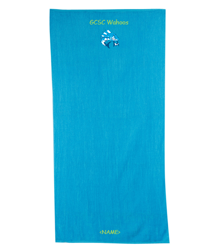 Green County Wahoos - Diplomat Terry Velour Beach Towel 30 x 60