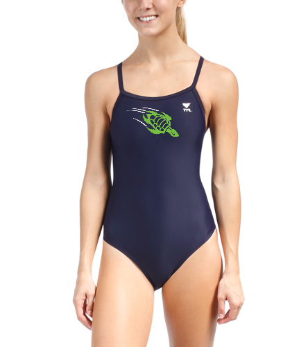 team suit_female_thin strap - TYR Solid Diamondfit One Piece Swimsuit