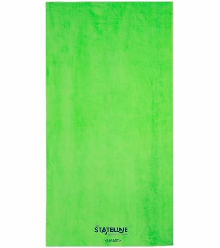 Stateline Green - Royal Comfort Terry Velour Beach Towel 32 X 64