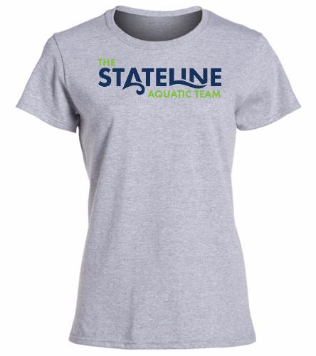 Stateline Grey -  Heavy Cotton Missy Fit T-Shirt