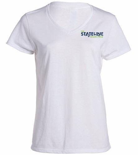 Stateline White -  Ladies V-Neck