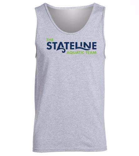 Stateline Grey -  Ultra Cotton Adult Tank Top