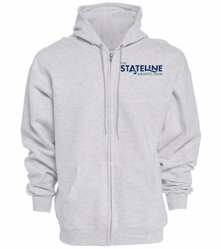Stateline Grey - Full Zip Hoodie