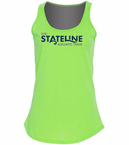 Stateline Green - Ladies 5.4-oz Cotton Tank Top