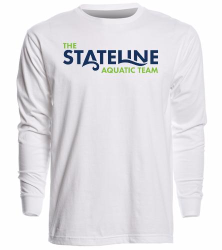 Stateline White - Unisex Long Sleeve Crew/Cuff