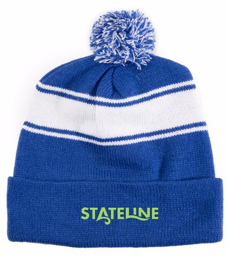 Stateline  - SwimOutlet Stripe Pom Pom Beanie
