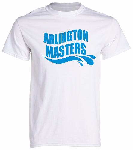 Arlington Masters Swim Team - White T-Shirt - SwimOutlet Unisex Cotton Crew Neck T-Shirt