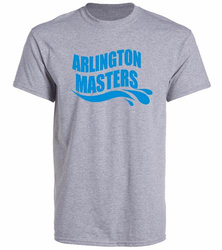 Arlington Masters Swim Team - Grey T-Shirt - SwimOutlet Unisex Cotton Crew Neck T-Shirt