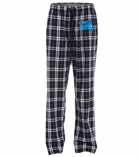 Flannel Plaid Pant with Logo - SwimOutlet Unisex Flannel Plaid Pant
