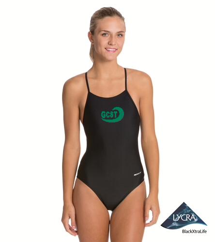 Black/Green  - Sporti Micro Back One Piece Swimsuit