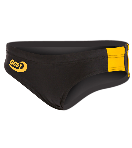 Gold/Black Brief  - Sporti Piped Splice Swim Brief Swimsuit Youth (22-28)