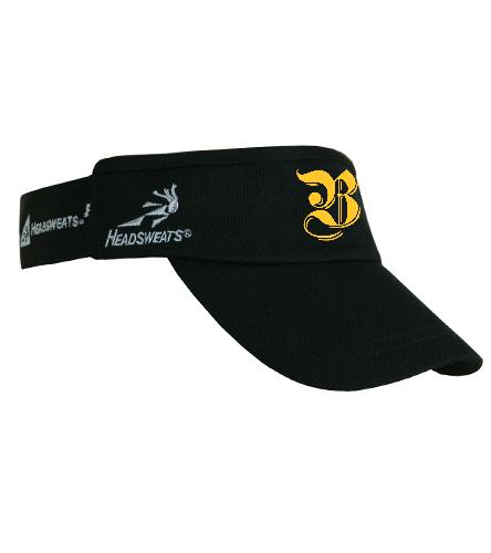 Black Berean Visor; gold lettering - Headsweats SuperVisor