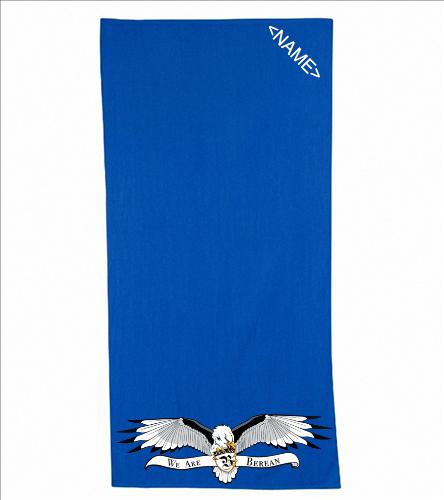 Logo Towel - Diplomat Terry Velour Beach Towel 30 x 60