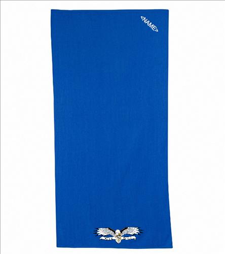 Towel, Logo v 2 - Diplomat Terry Velour Beach Towel 30 x 60