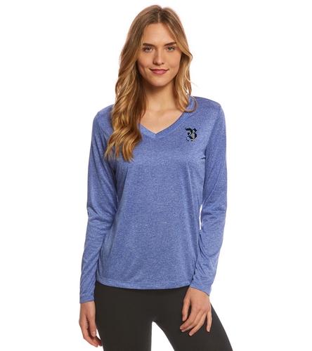 Women's long sleeve tech, logo - SwimOutlet Women's Long Sleeve Tech T Shirt