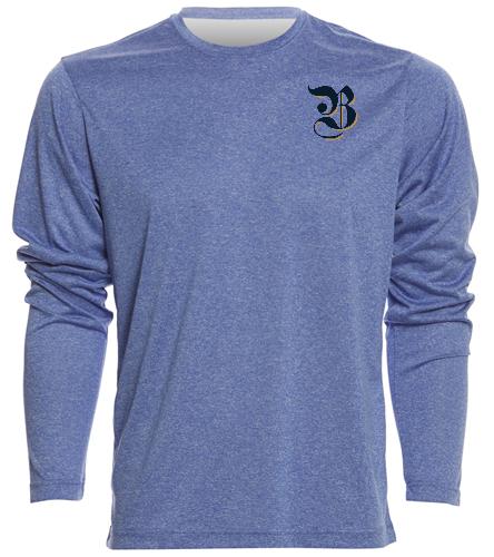 Men's Long Sleeve Tech T, logo - SwimOutlet Men's Long Sleeve Tech T Shirt