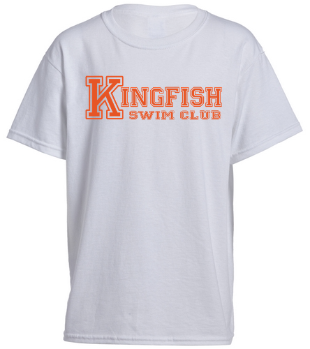 White Youth KSC T Shirt - SwimOutlet Youth Cotton Crew Neck T-Shirt