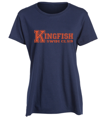 Navy Heavy Cotton Missy Fit T-Shirt  - SwimOutlet Women's Cotton Missy Fit T-Shirt