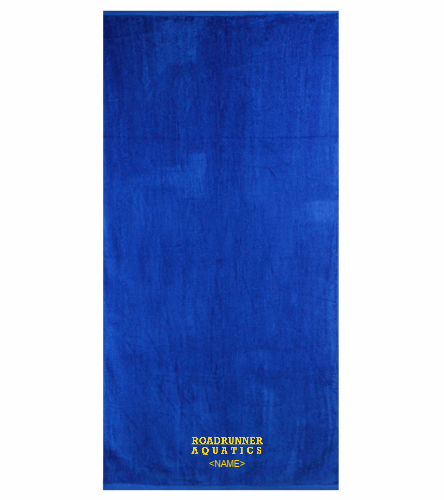 Royal Blue and Yellow Towel Option 2 - Royal Comfort Terry Velour Beach Towel 32 X 64