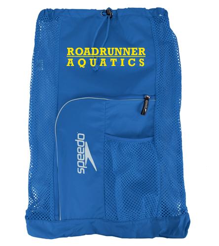 Blue and Yellow Gear Bag - Speedo Deluxe Ventilator Mesh Bag