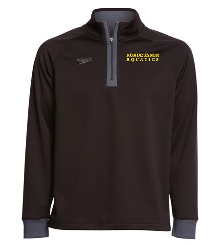 Team Pullover Black - Speedo Unisex 3/4 Zip Sweatshirt