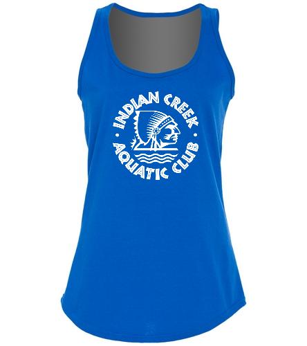 Indian Creek Aquatic Club - SwimOutlet Women's Cotton Racerback Tank Top