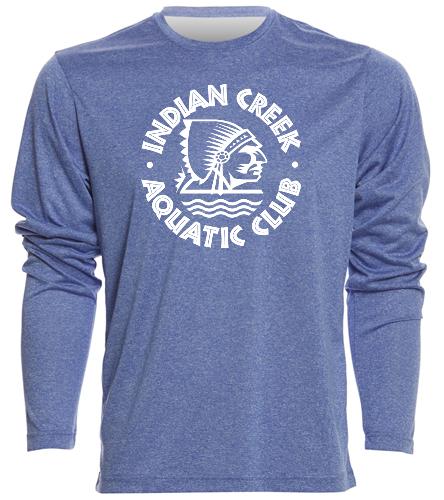 Men's ICAC Long Sleeve - SwimOutlet Men's Long Sleeve Tech T Shirt
