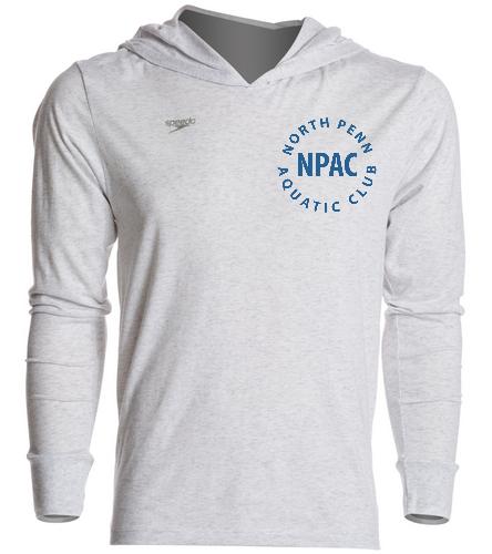 NPAC White Speedo Hoodie - Speedo Unisex Pull Over Hoodie