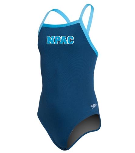 NPAC Speedo Youth - Youth Solid Endurance + Flyback Training Swimsuit