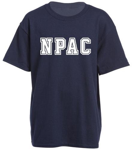 NPAC Navy Youth heavy Cotton tee - Heavy Cotton Youth T-Shirt