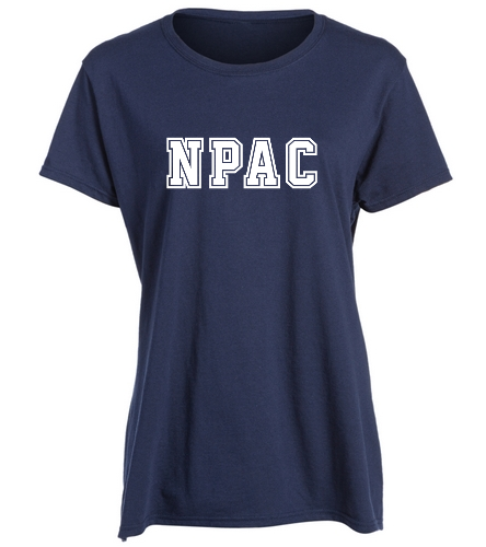 NPAC Cotton Missy Tee Navy -  Heavy Cotton Missy Fit T-Shirt