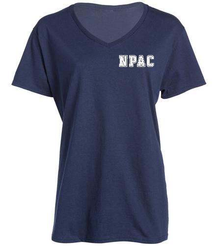 NPAC Navy V-neck -  Ladies V-Neck