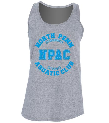 NPAC Woman's Tank Grey -  Ladies 5.4-oz 100% Cotton Tank Top