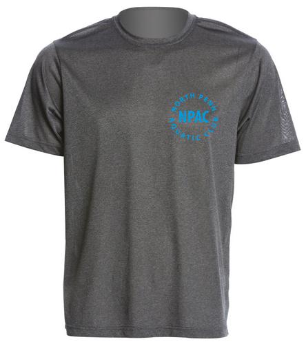 NPAC Men's Tech tee Grey - SwimOutlet Men's Tech Tee