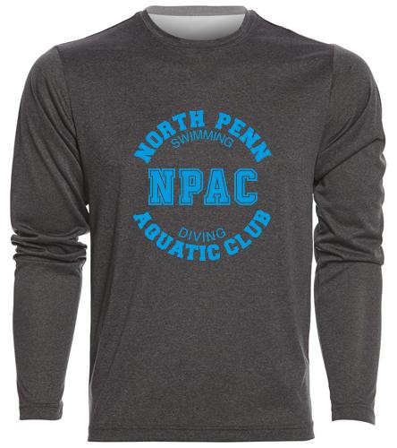 NPAC Men's Long Sleeve Tee - SwimOutlet Men's Long Sleeve Tech T Shirt