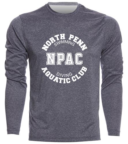 NPAC Men's Long Sleeve Navy - SwimOutlet Men's Long Sleeve Tech T Shirt
