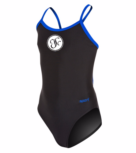 CSC - Sporti Solid Piped Thin Strap One Piece Swimsuit Youth (22-28)