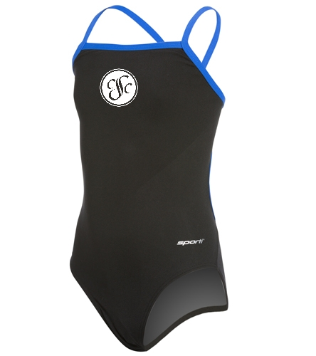 CSC - Sporti Poly Pro Piped Thin Strap One Piece Swimsuit Youth (22-28)